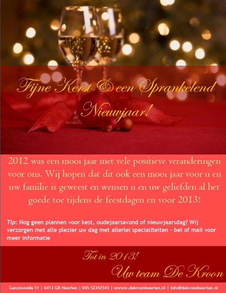 Fijne Feestdagen van De Kroon in Heerlen